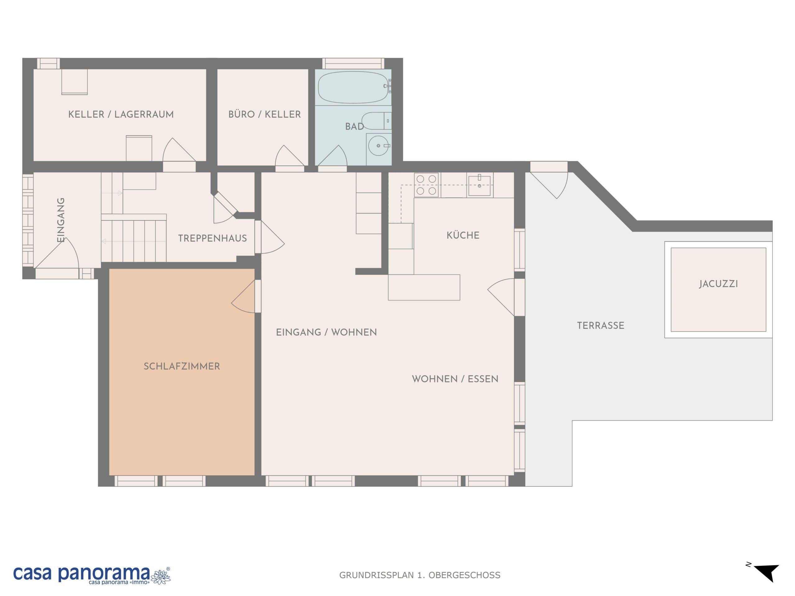 Grundrissplan 1. Obergeschoss